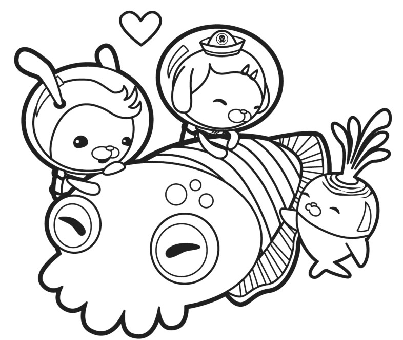OCTONAUTS COLORING PAGES Coloriage