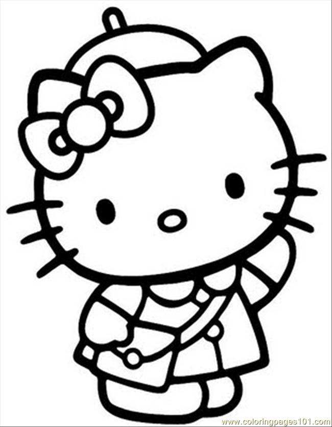 Images Coloring Pages For Kids To Print Out Hello Kitty