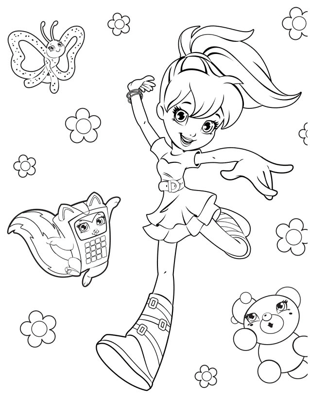 coloriage polly pocket