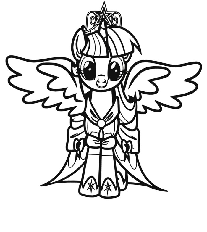 Twilight Sparkle My Little Pony Coloring Page : KidsyColoring