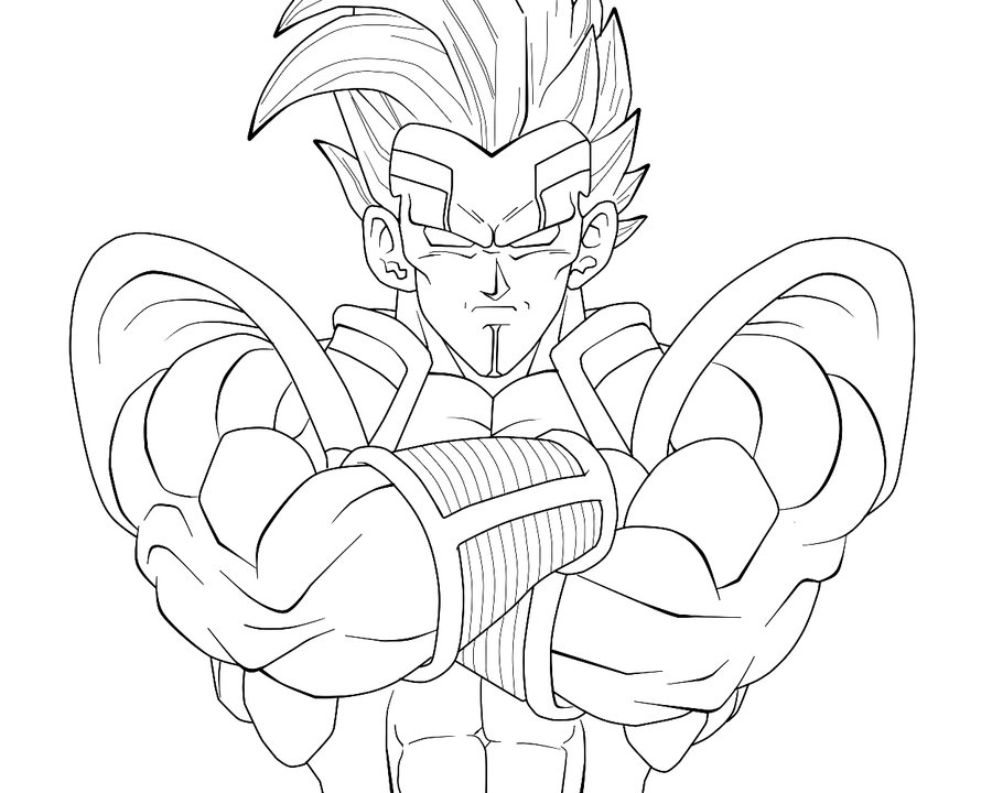 Baby Vegeta GT Colouring Pages