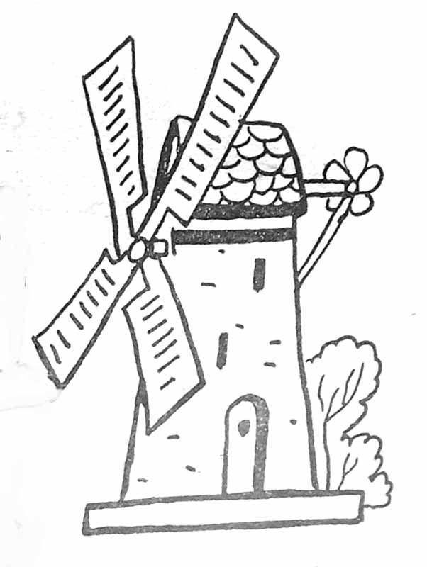 Petit Moulin Tine La Tartine Az Coloriage