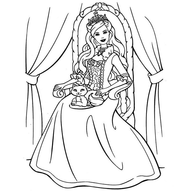 Coloriage Barbie Princesse Az Coloriage