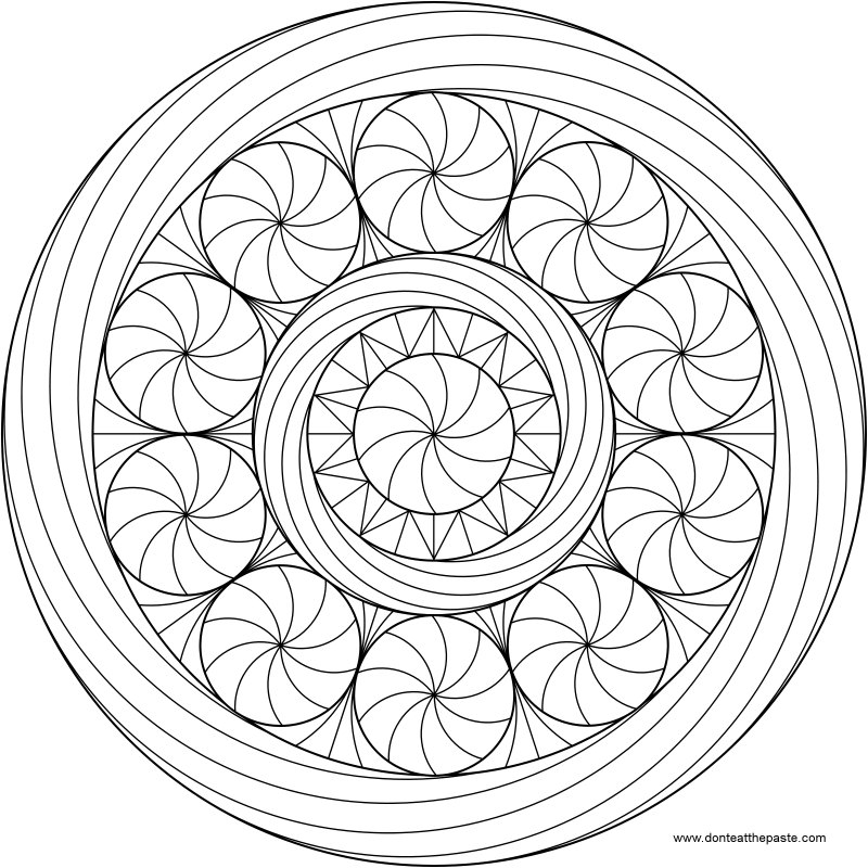 Mandalas and Symbols to Colour » The Buddha Center