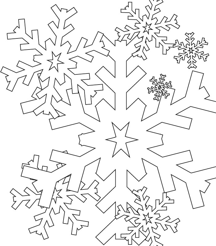 flocon de neiges Coloriage