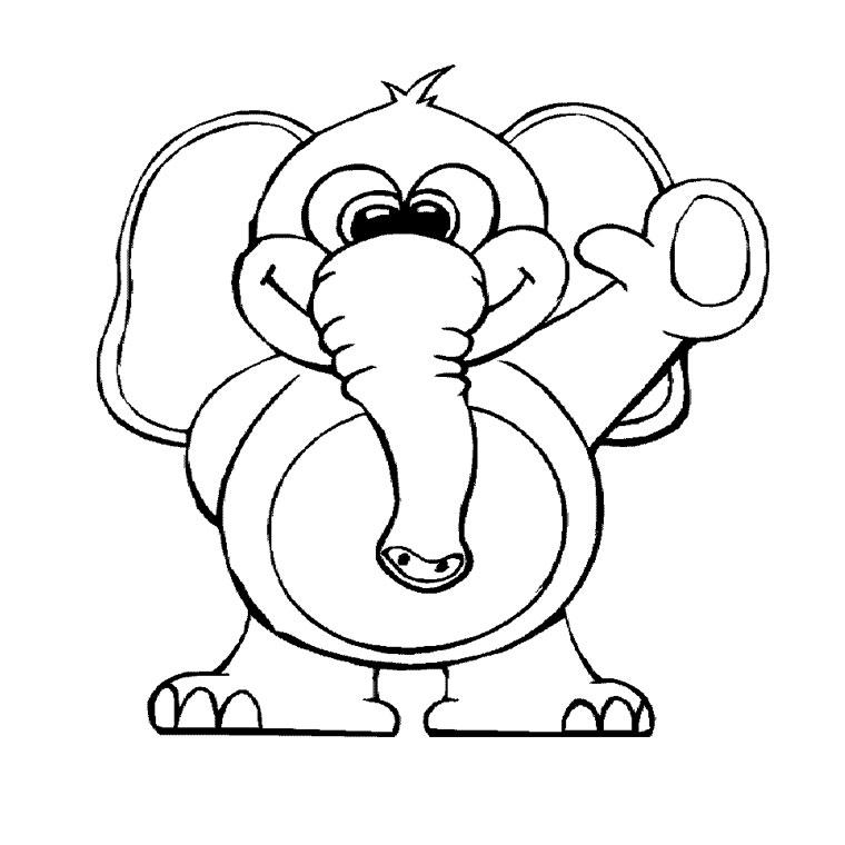Dessin Elephant A Imprimer  AZ Coloriage