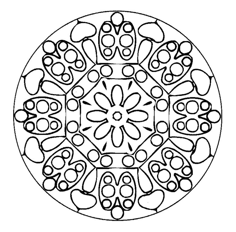 mandala monster Coloriage