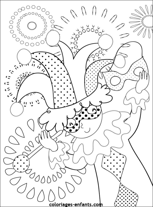 Coloriages Carnaval 13jpg