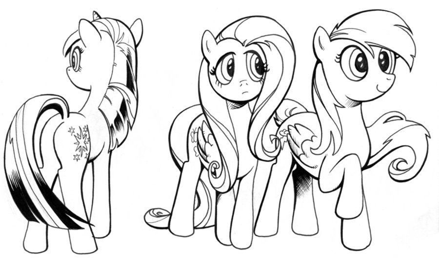 ink studies, My Little Pony by andypriceart on deviantART