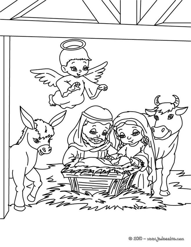Coloriage Sainte Famille.Coloriages De Personnages Religieux Sainte Famille A Colorier Az
