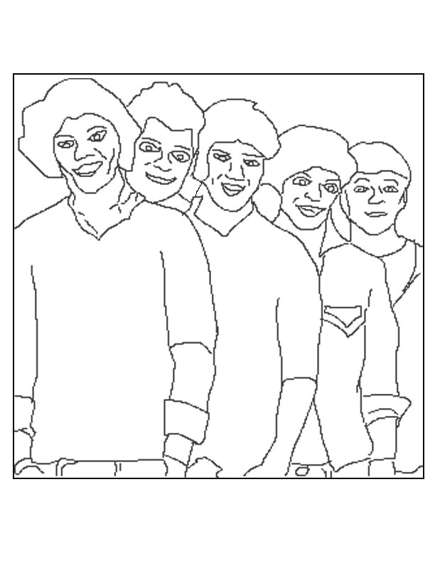 Coloriage One Direction a imprimer