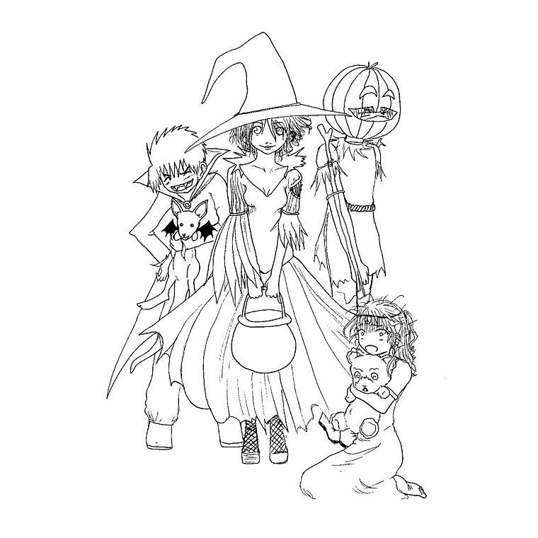 Coloriage Halloween Pour Grand A Imprimer Gratuit Az Coloriage