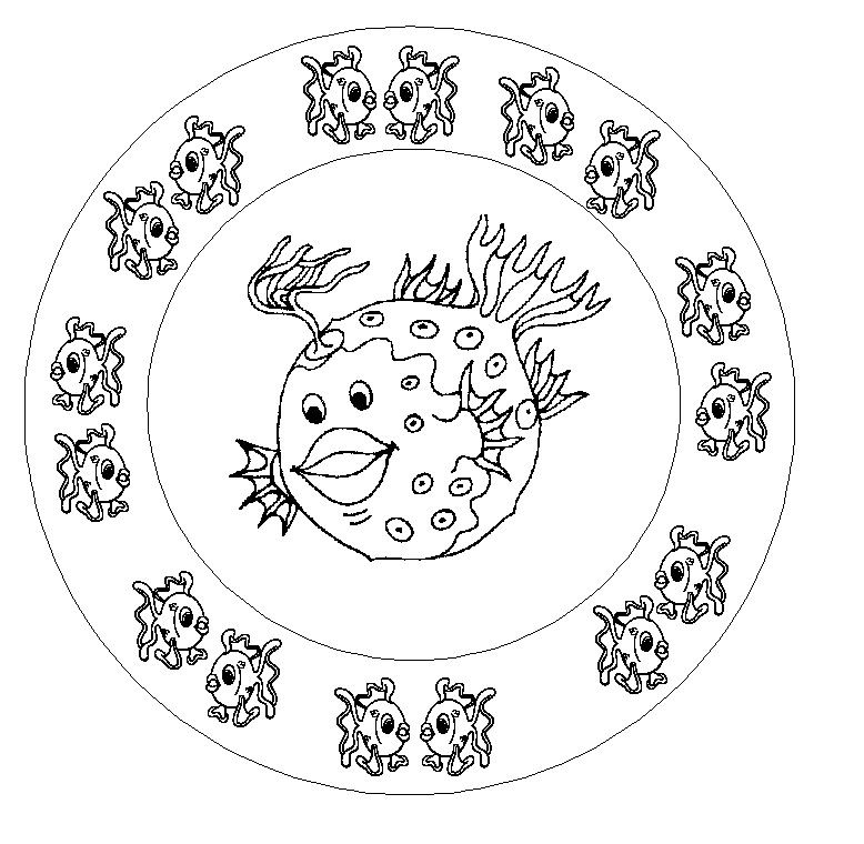 Coloriage Mandala De Poisson.Coloriages Poisson D Avril Az Coloriage