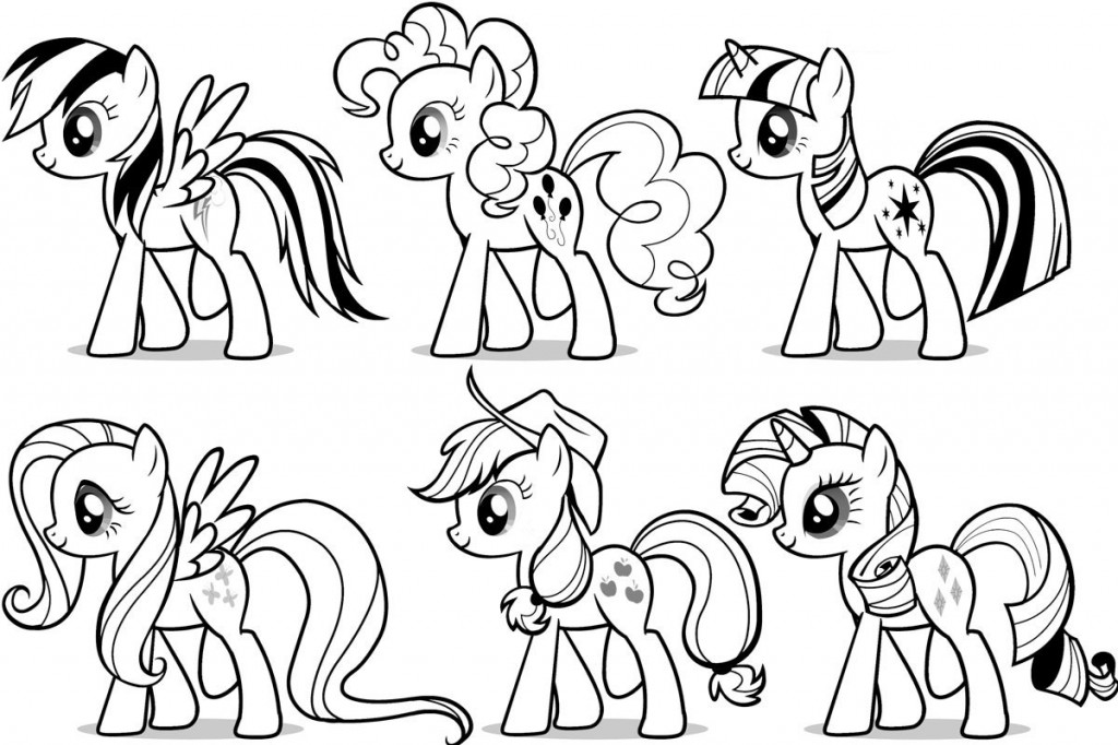 my littlest ponys Coloriage