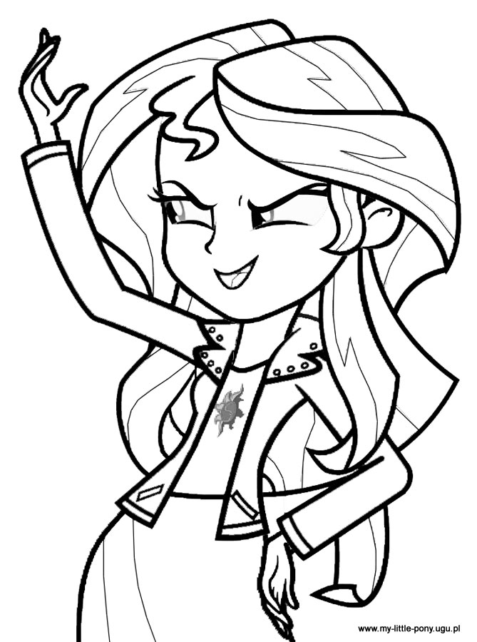 sunset shimmer Coloriage