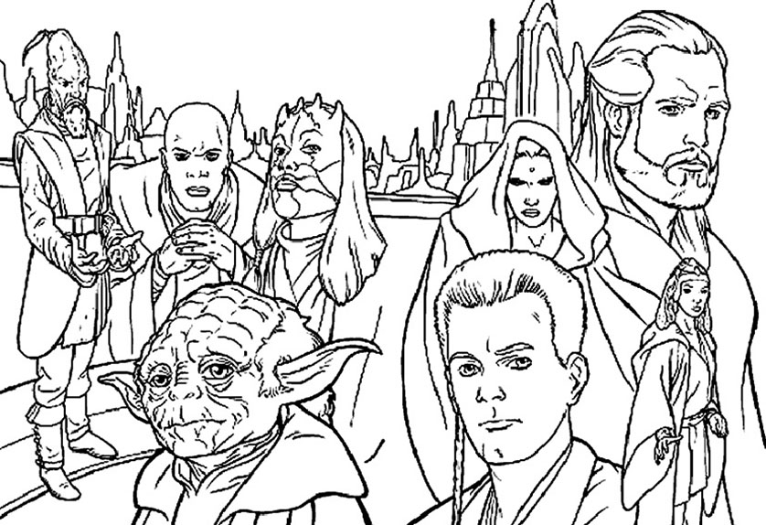 Coloriage Star Wars 1 | Coloriage a Imprimer