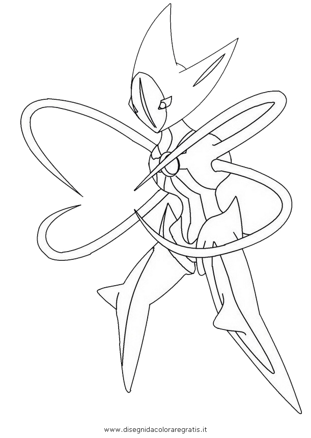 Pok?mon deoxys Colouring Pages