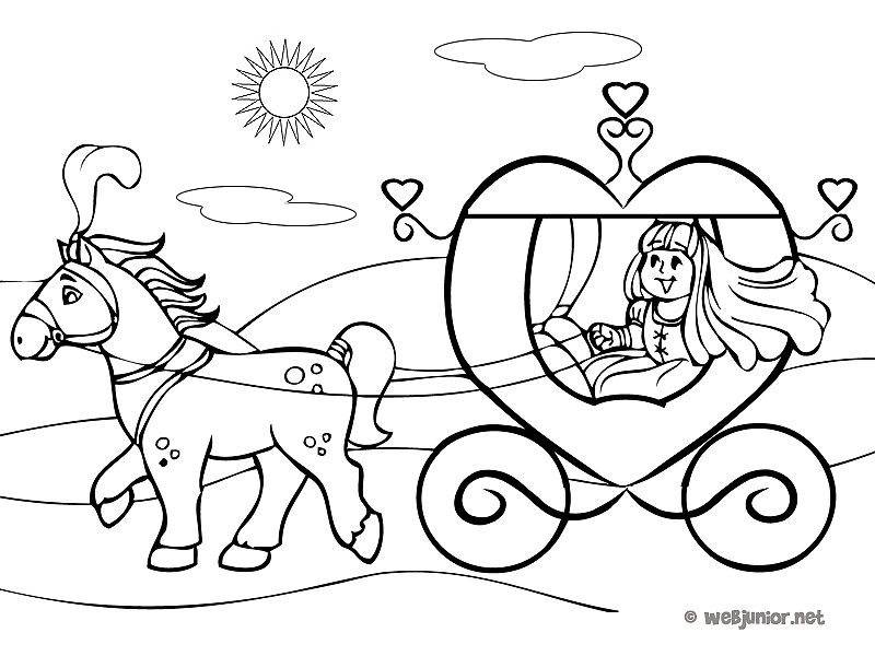cendrillon carrosse Coloriage