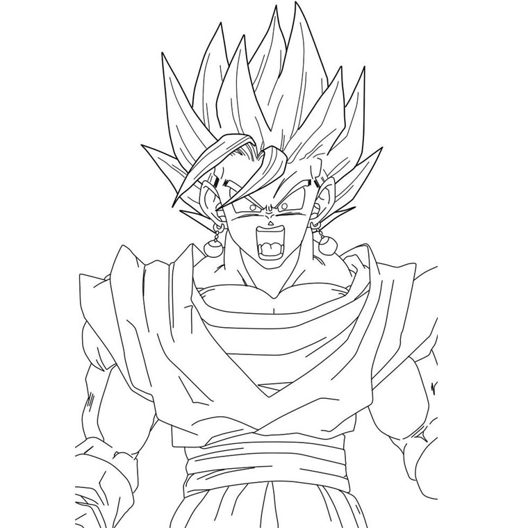Dragonball Z vegeta Coloriage