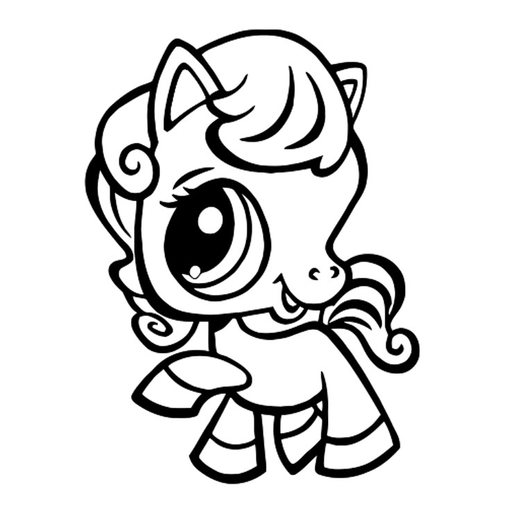 Coloriage Poney Pet Shop a Imprimer Gratuit