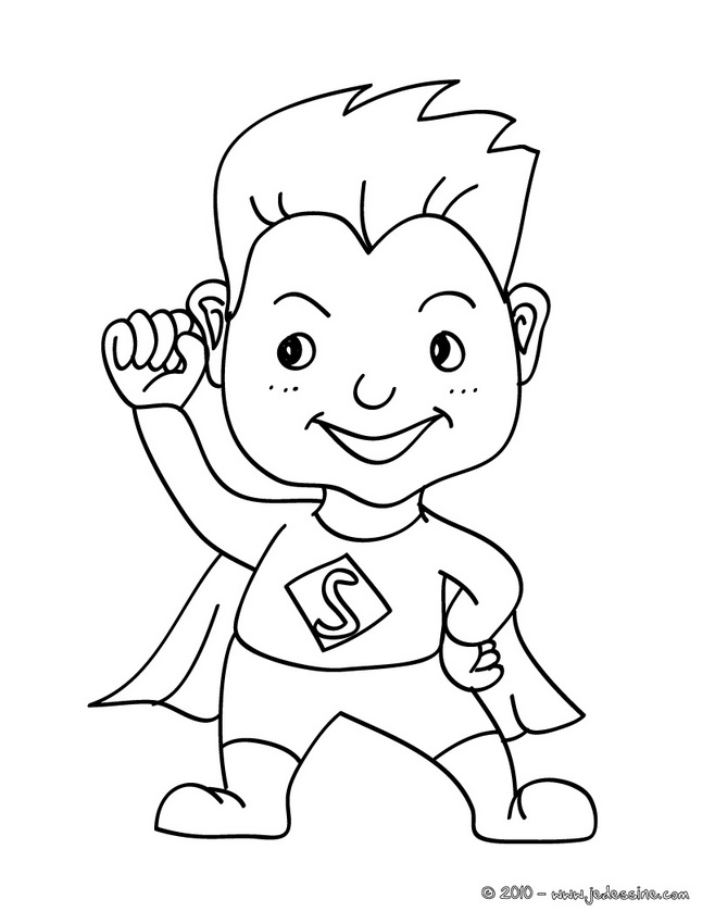 Coloriage CARNAVAL COSTUMES - Coloriage costume carnaval superman