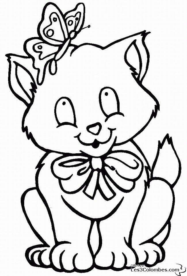 coloriage chaton coloriage en ligne gratuit pour enfant