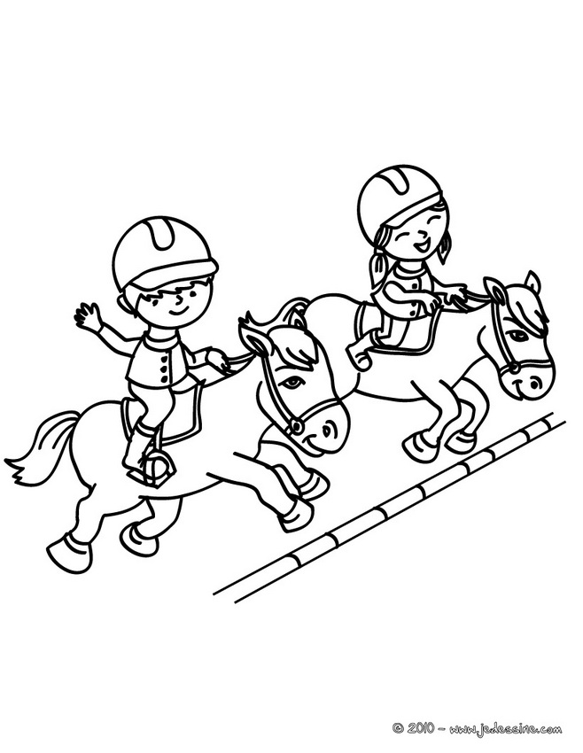 Coloriage JUMPING - Champion de JUMPING à colorier