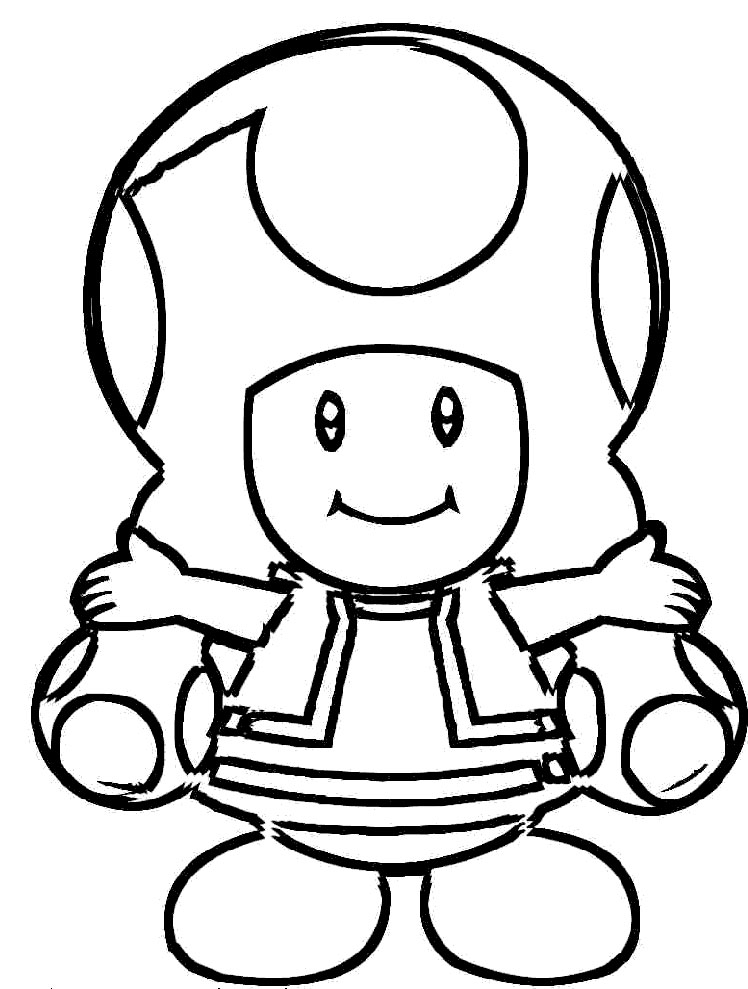 toadette Coloriage