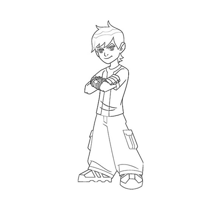 Coloriage Ben 10 En Couleur.Ben Ten Omnivers Coloriage Az Coloriage