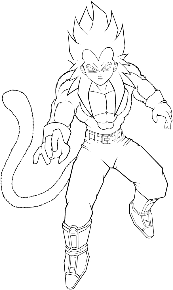 VEGETA SUPER SAYEN 4 Coloriage