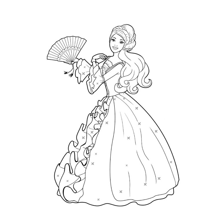 princesse dessin facile Coloriage