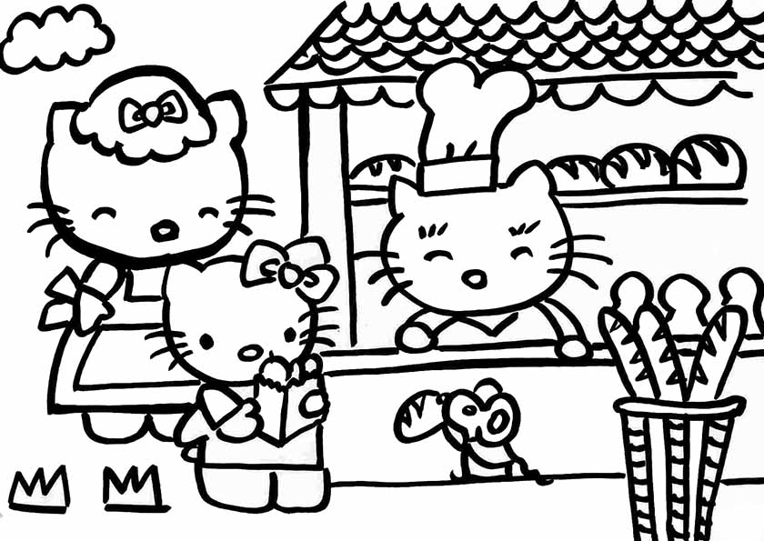 Coloriage Hello Kitty Noel #15: Coloriage Hello Kitty 2 | Coloriage A Imprimer