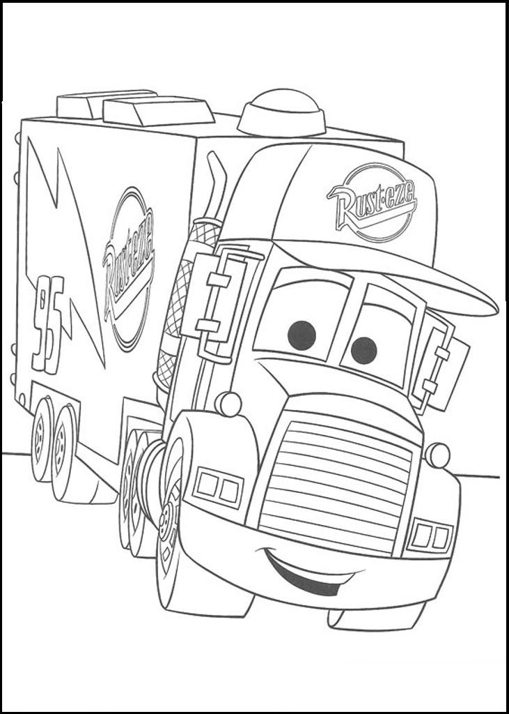 Coloriage Camion Cars Kunings Coloriage Az Coloriage