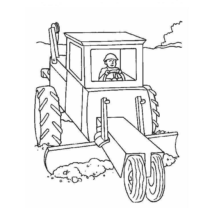 Tracteur tom a colorier - Tracteur tom coloriage ...