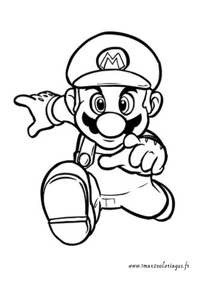 COLORIAGE DE MARIO BASKET BALL Coloriage