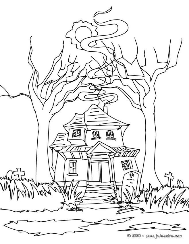 Coloriage Chateau Halloween Coloriage Maison Hantee Az Coloriage