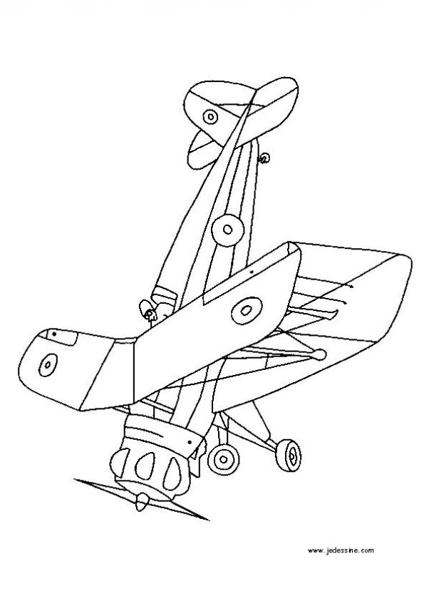 Coloriages Avions - Coloriage d'un avion