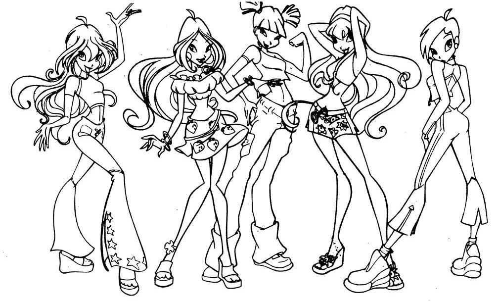 winx club believix colouring pages