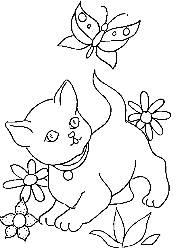 Coloriage Chat Et Chaton Az Coloriage