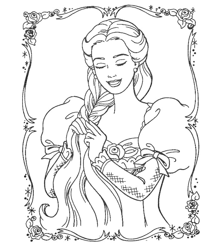 Coloriage En Ligne Princesse Disney Raiponce » Coloriages