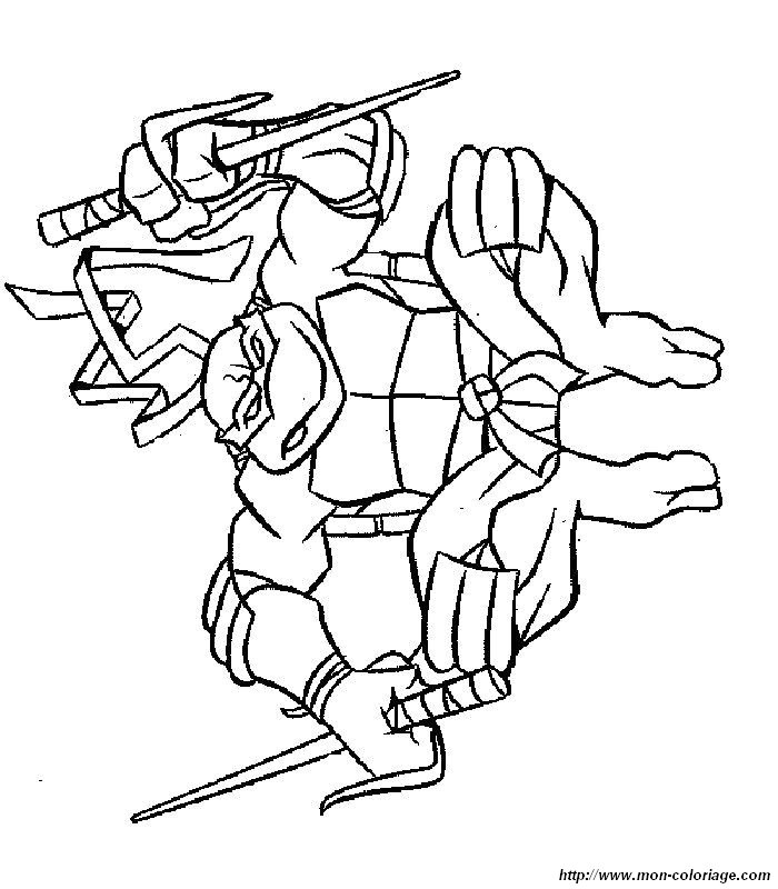 jumps Ninja turtles coloring page | Coloring Pages
