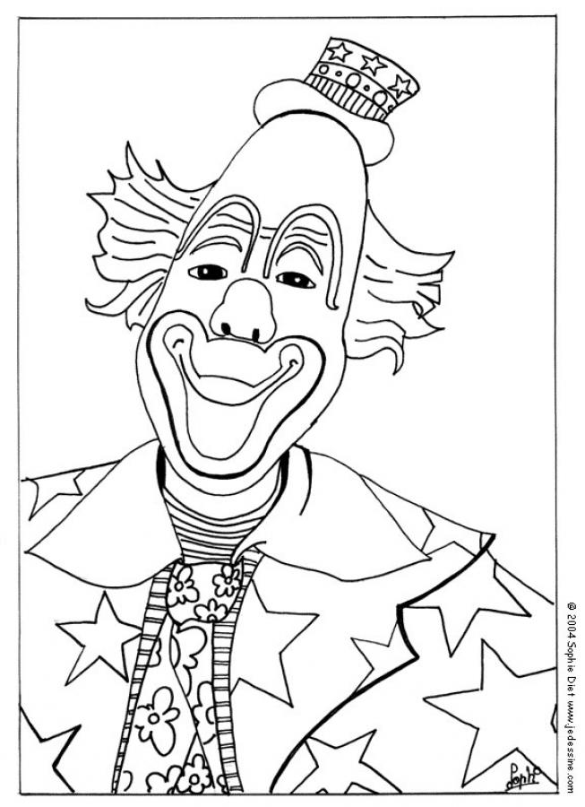 Coloriage CLOWN - Visage de clown