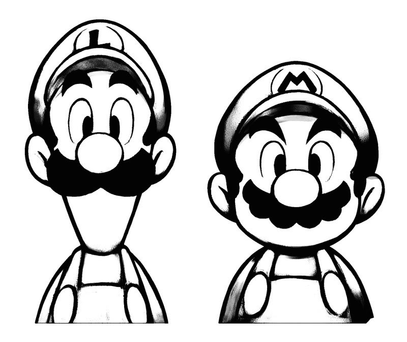 Sketch Of Mario And Luigi Photo by Demon_Yoshi | Photobucket