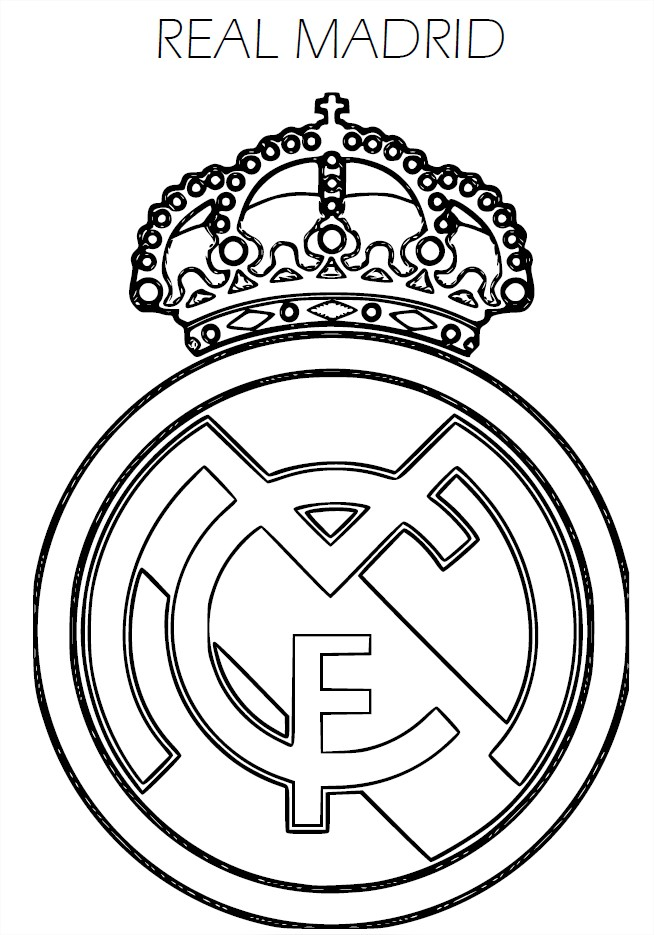 les coloriages de football imprimer ralmadrid coloriage