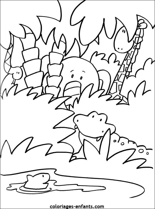 Coloriage Gratuit Crocodile.Crocodile Coloriage Az Coloriage