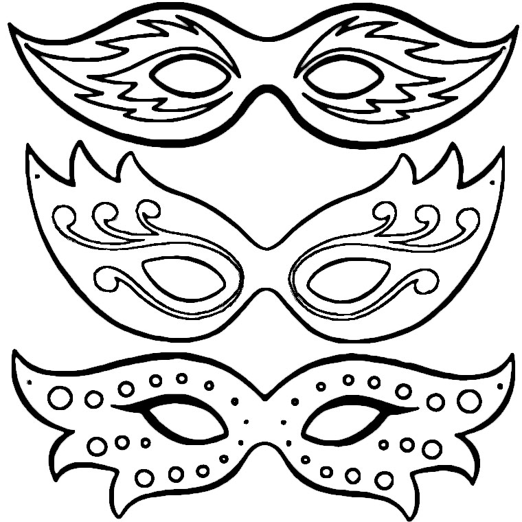 masques carnaval Coloriage