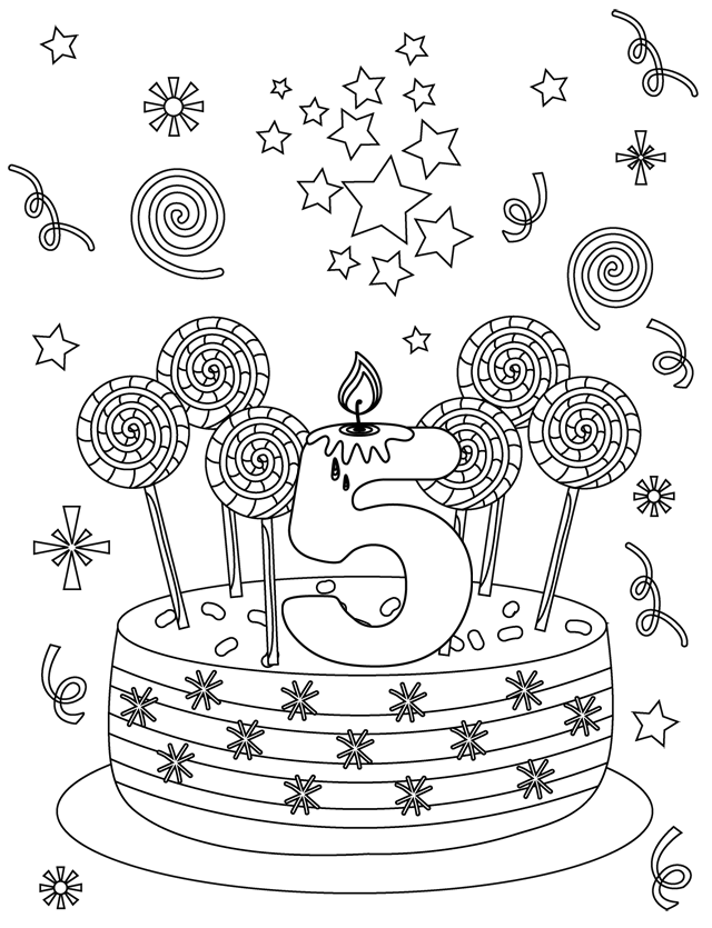 Coloriage Anniversaire Babar.Coloriage A Imprimer Joyeux Anniversaire Az Coloriage