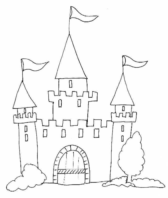 chateau princesse Coloriage