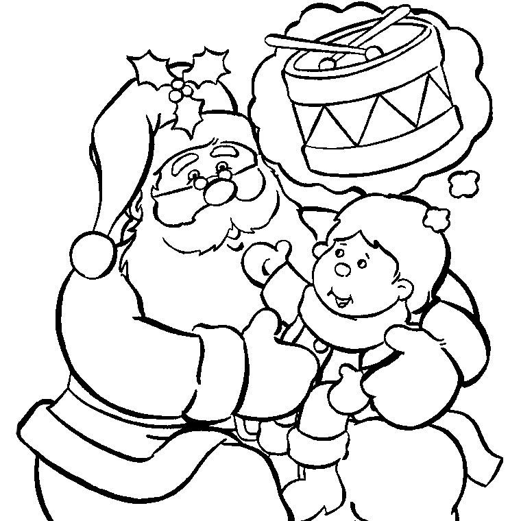 Dessin Pere Noel Gratuit Az Coloriage