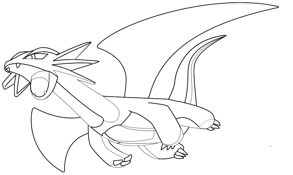coloriage de pokemon drattak